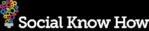 Social Know How Logo Landscape white text web